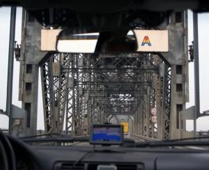 Граница между Болгарией и Румынией - дунайский мост